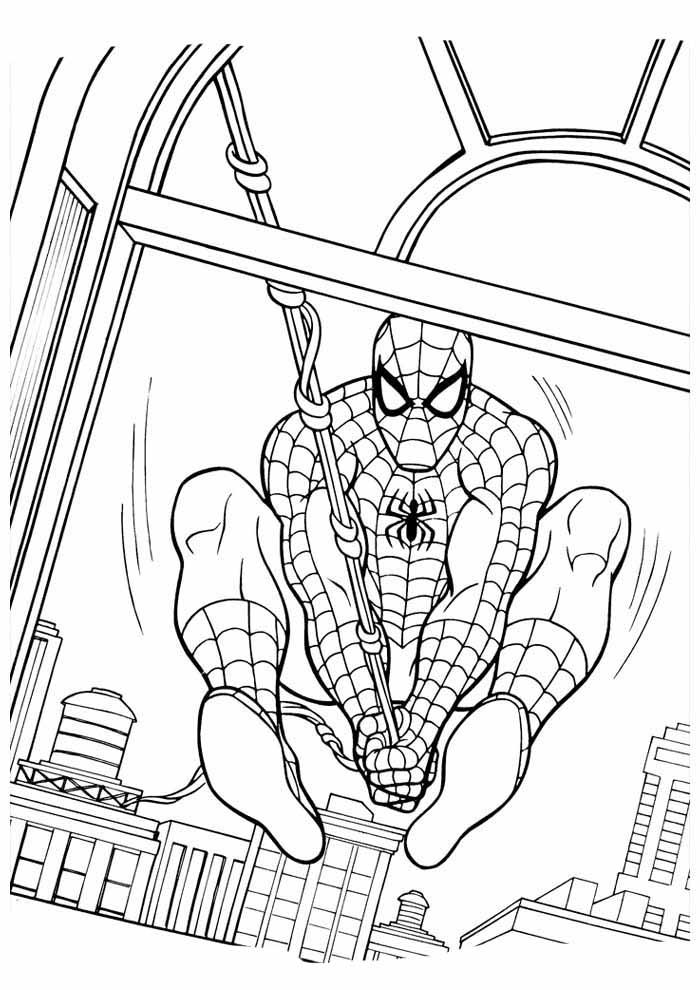 homem aranha para colorir 18