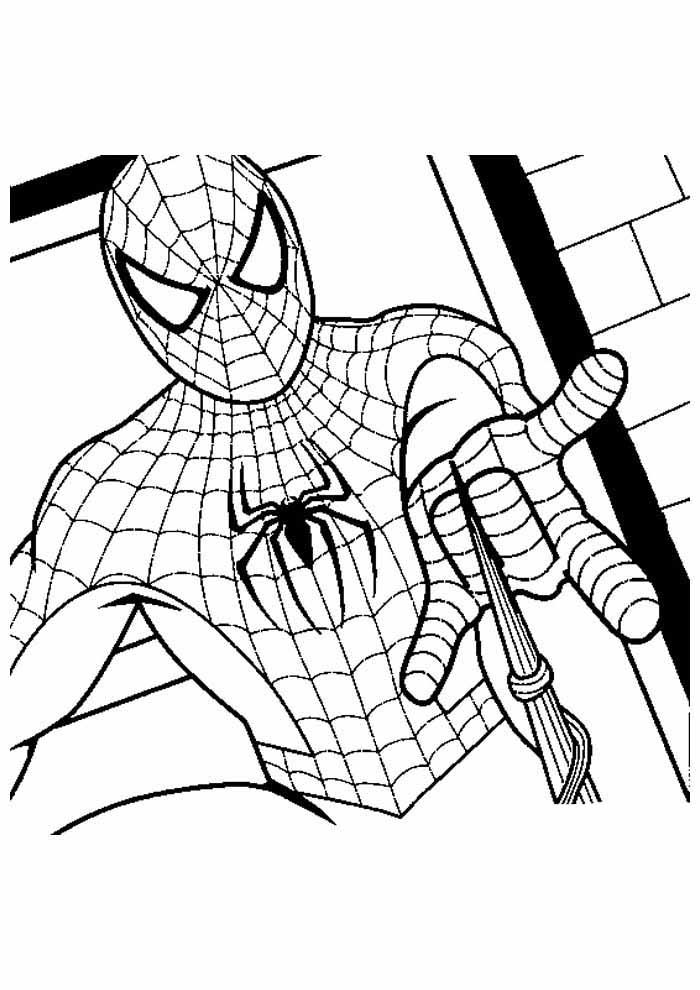 homem aranha para colorir 19