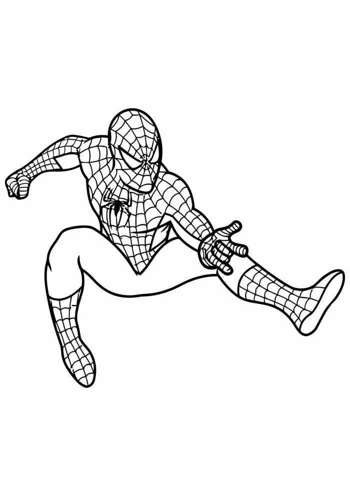 homem aranha para colorir 2