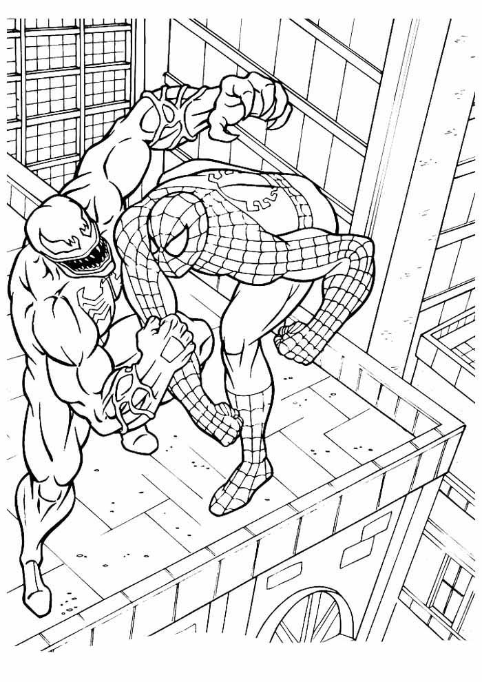 homem aranha para colorir 21