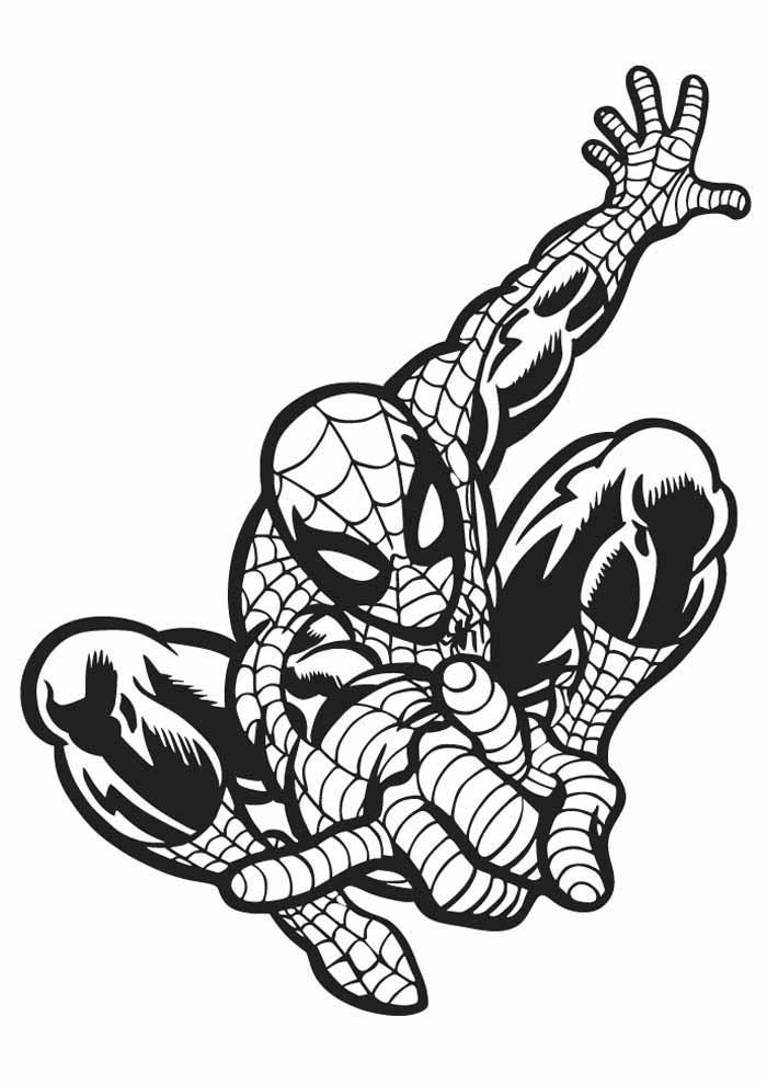 homem aranha para colorir 23