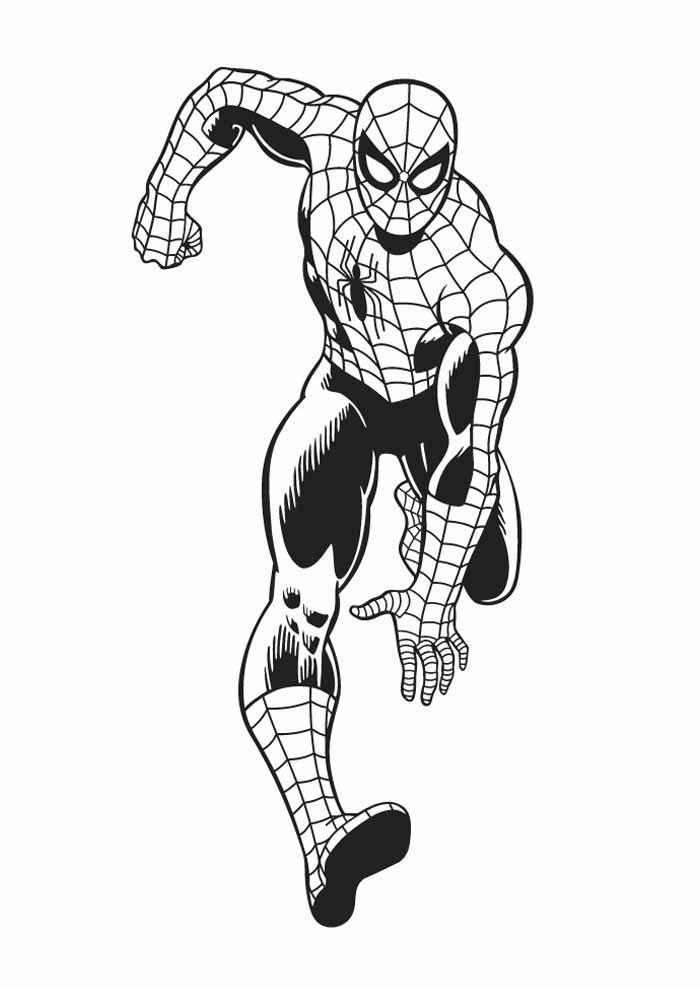 homem aranha para colorir 25