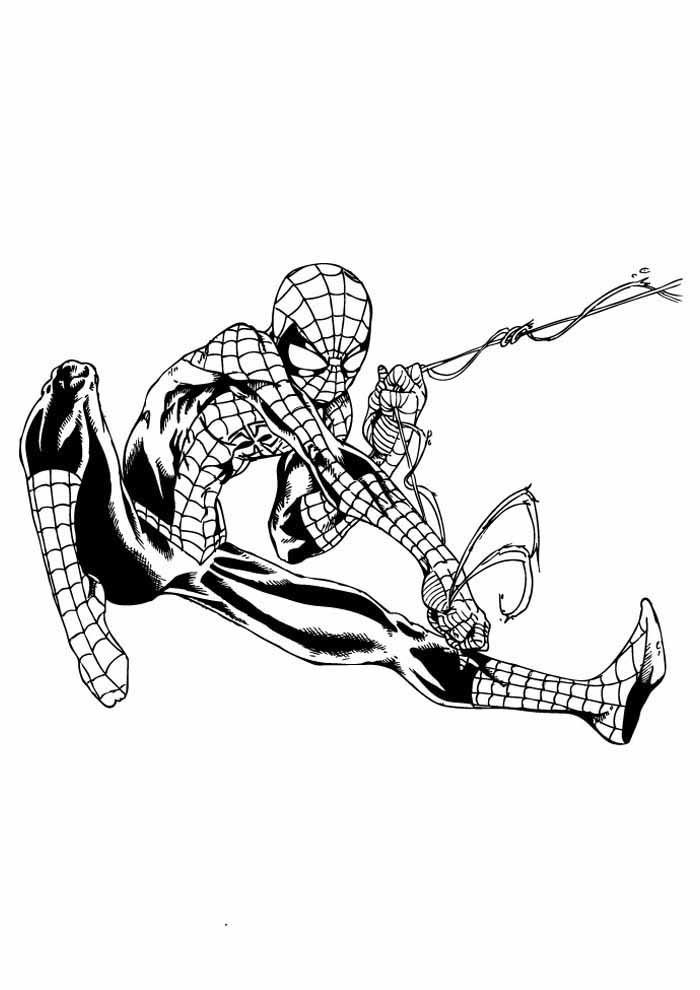 homem aranha para colorir 29