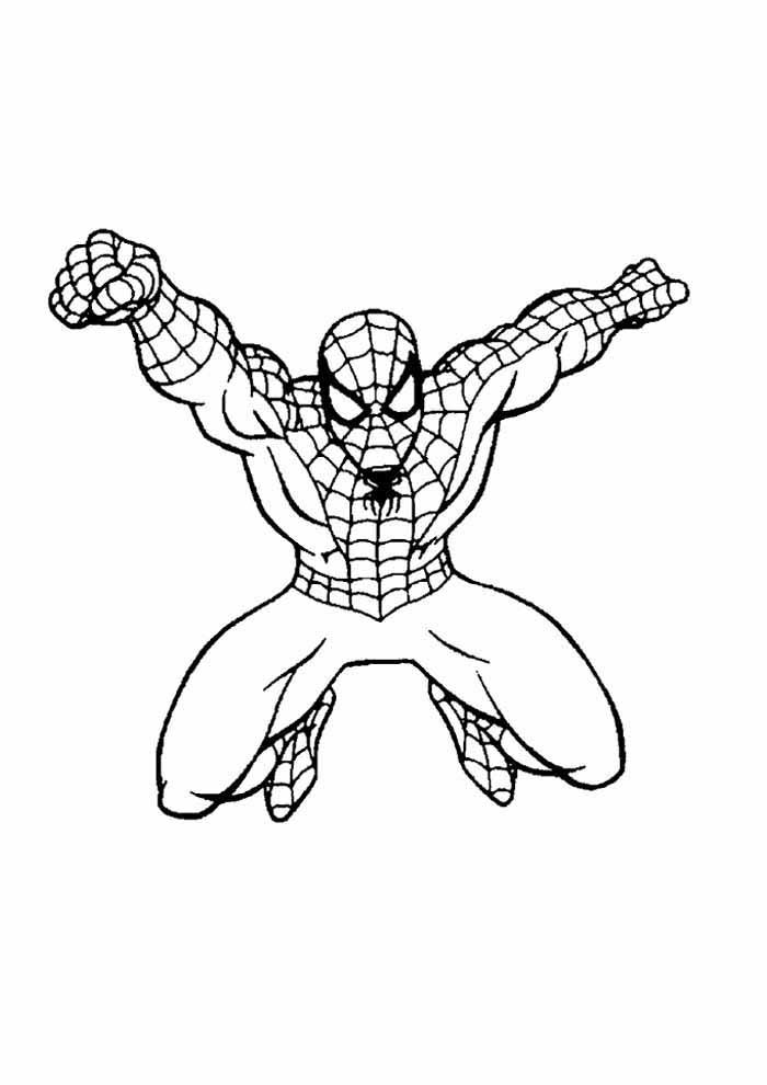 homem aranha para colorir 3
