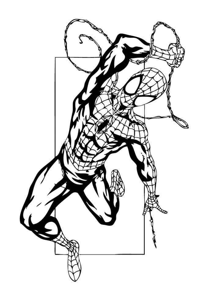 homem aranha para colorir 30