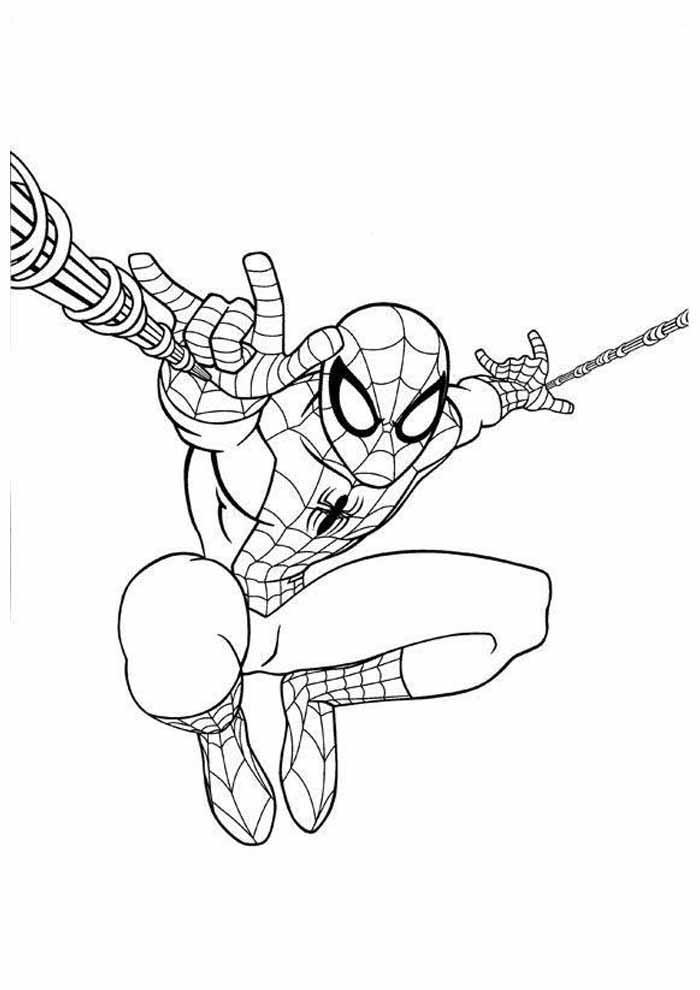homem aranha para colorir 33