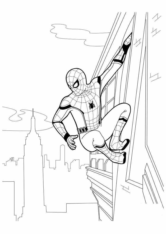 homem aranha para colorir 38