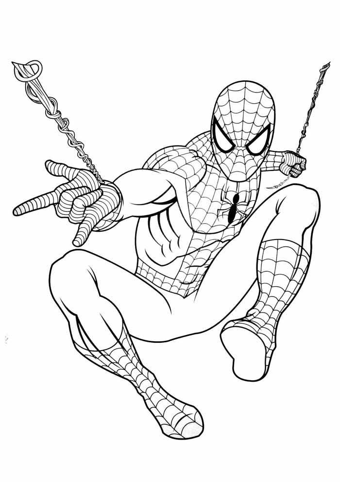 homem aranha para colorir 39