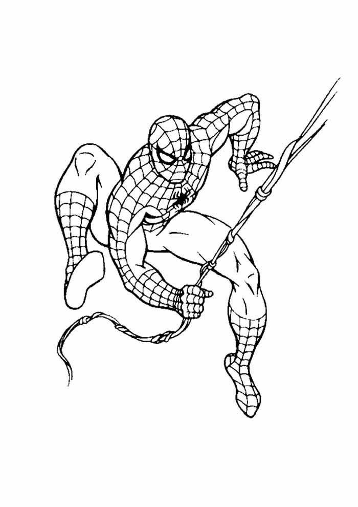 homem aranha para colorir 4