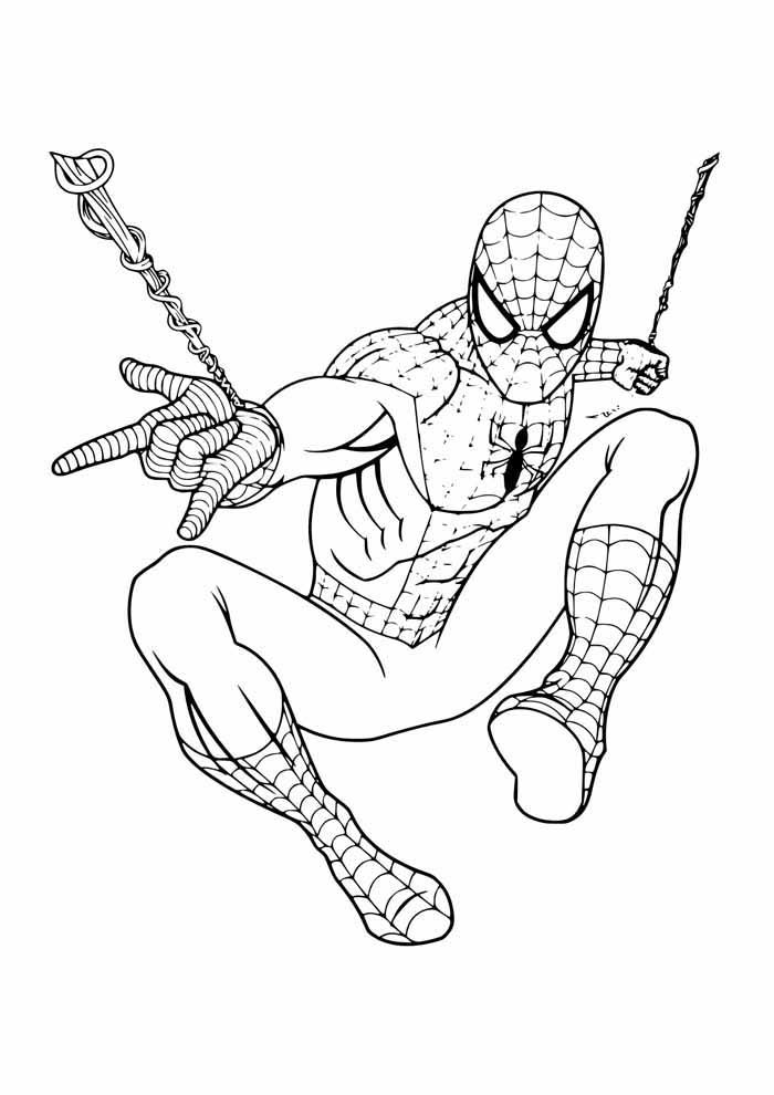 homem aranha para colorir 43