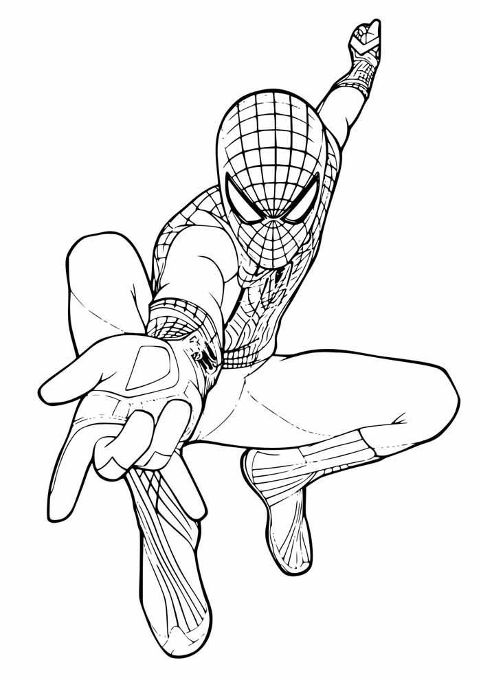 homem aranha para colorir 45