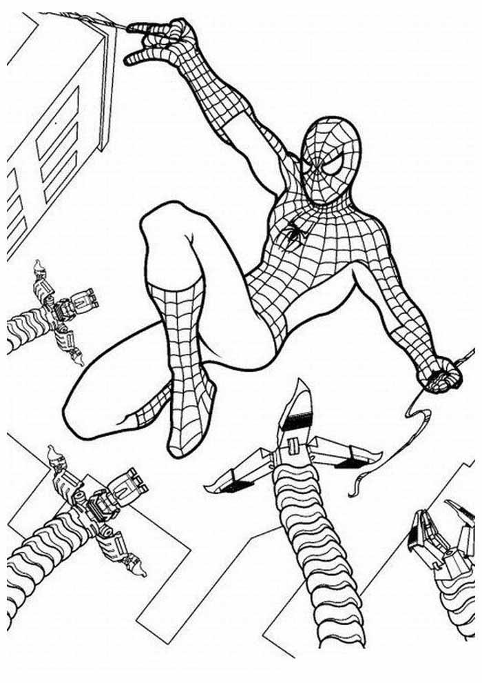 homem aranha para colorir 6