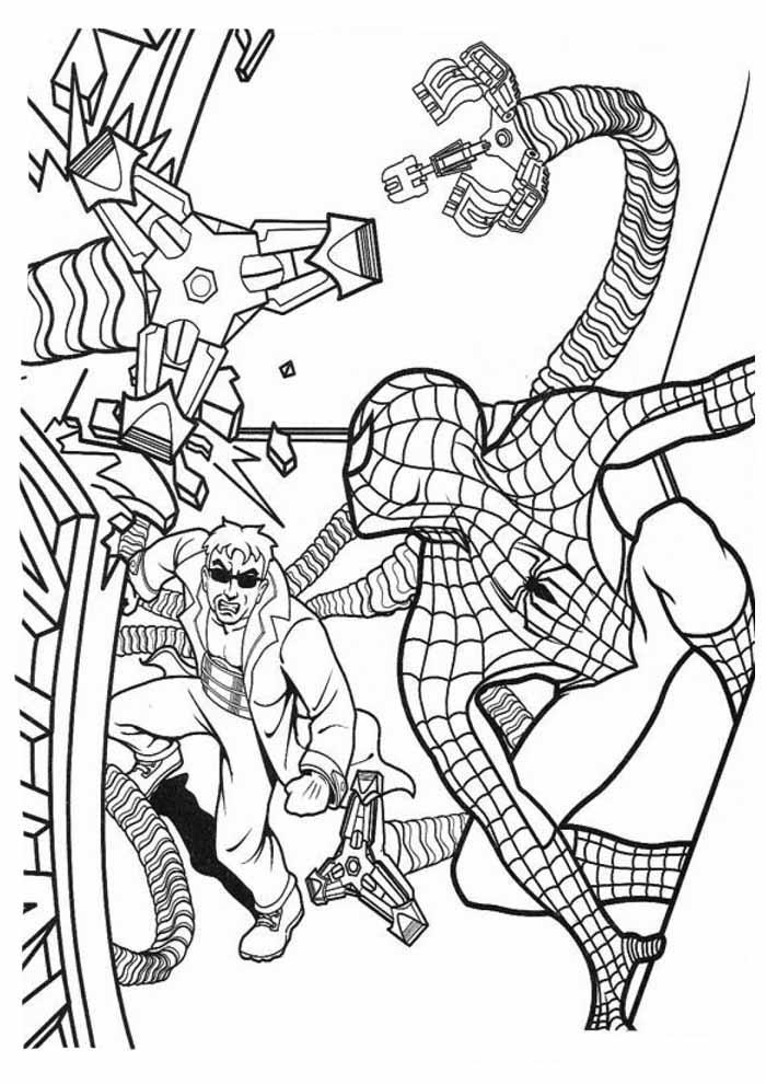 homem aranha para colorir 7