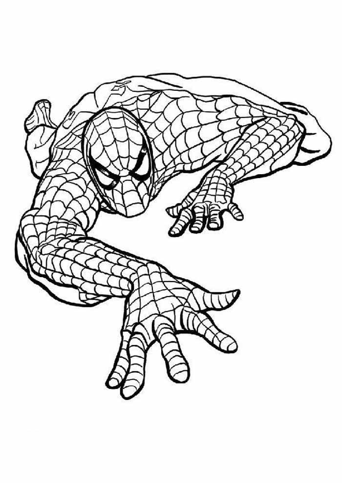 homem aranha para colorir 9