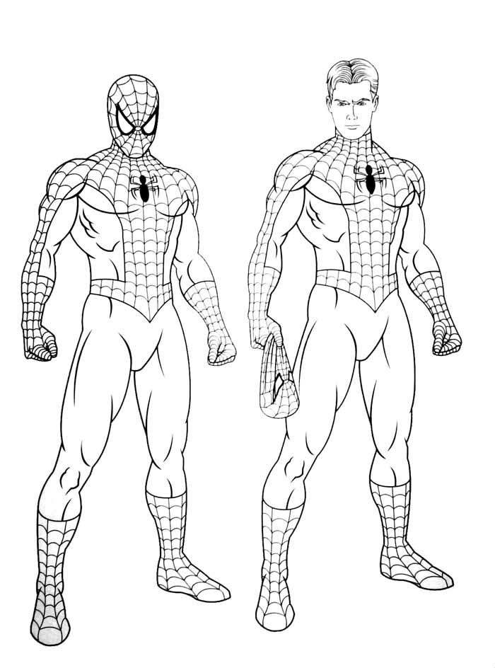 16 Desenhos Do Homem Aranha Para Imprimir E Colorir