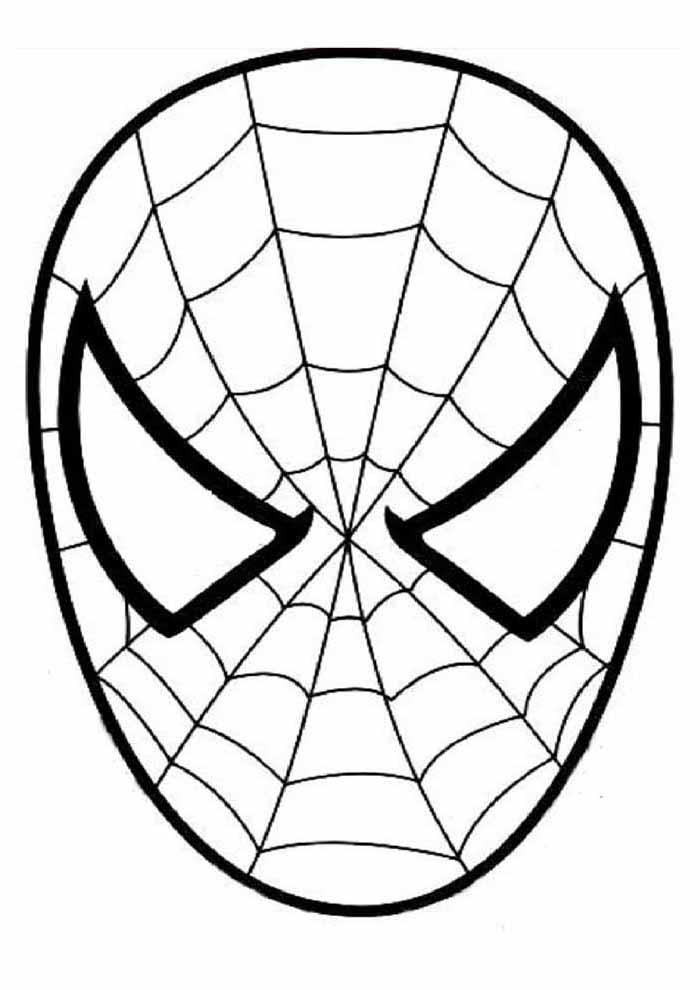 homem aranha para colorir máscara