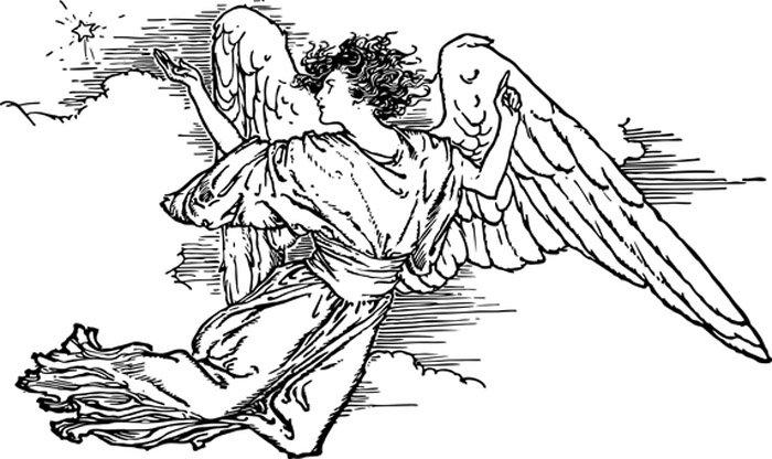 imagem anjo da guarda para colorir