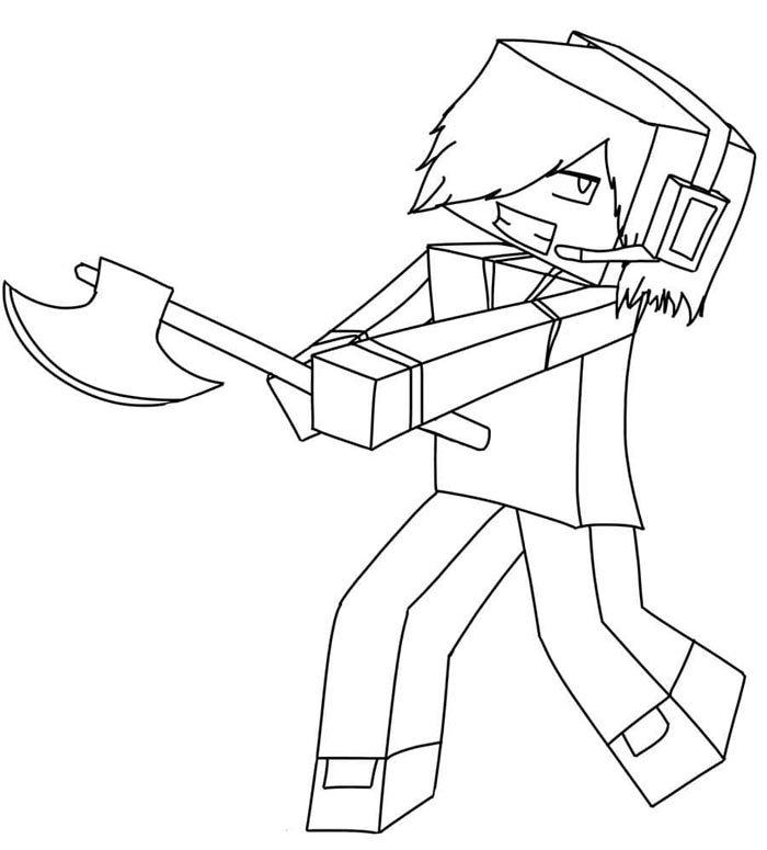 imagens do minecraft para colorir