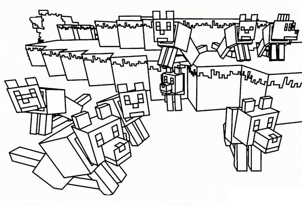 imprimir desenho minecraft