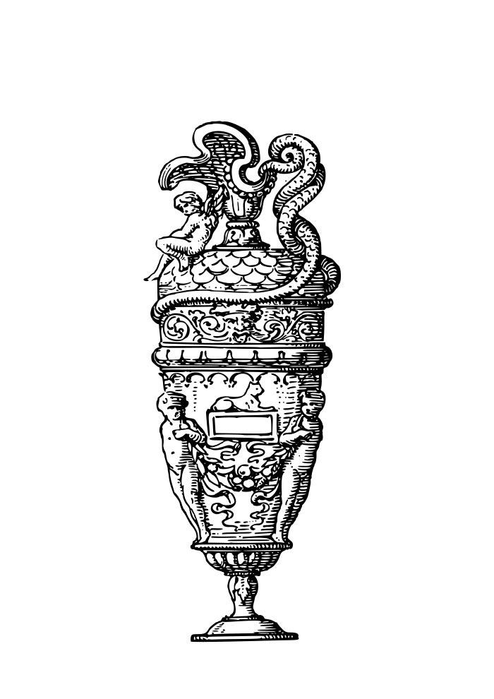 jarra elegante para colorir adultos