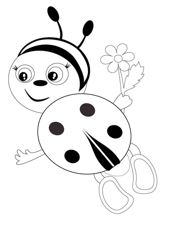 ladybug para imprimir e colorir