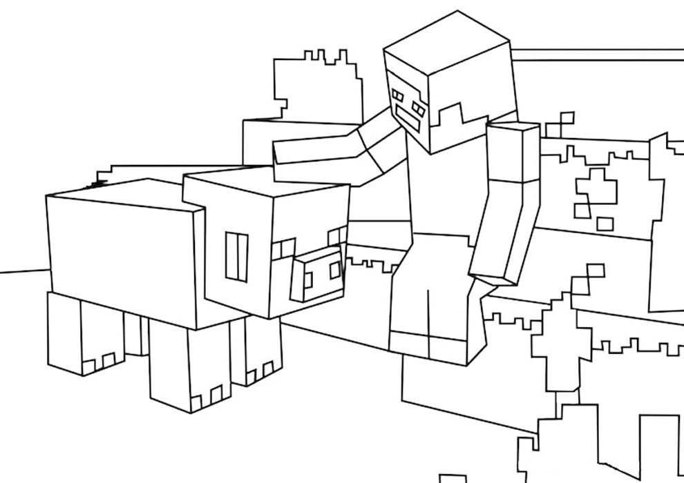 minecraft desenho colorir