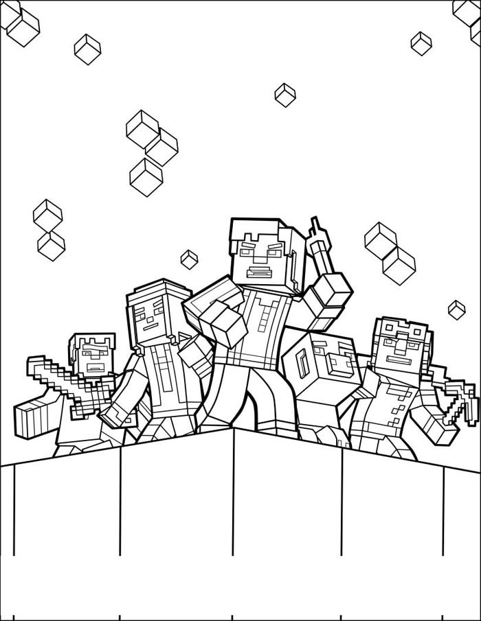 minecraft desenho para pintar