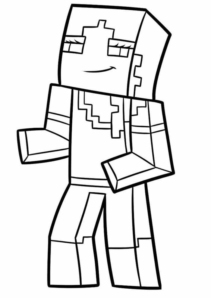 minecraft para colorir 1