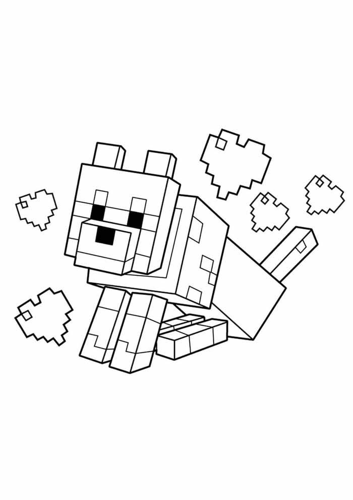 minecraft para colorir 11