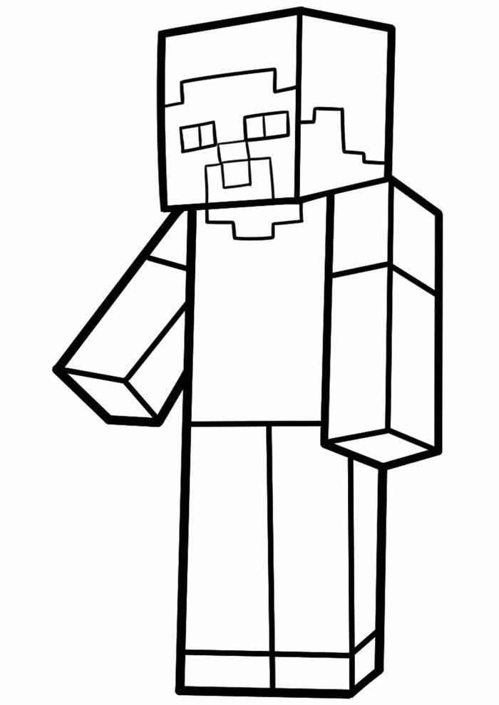 minecraft para colorir 16