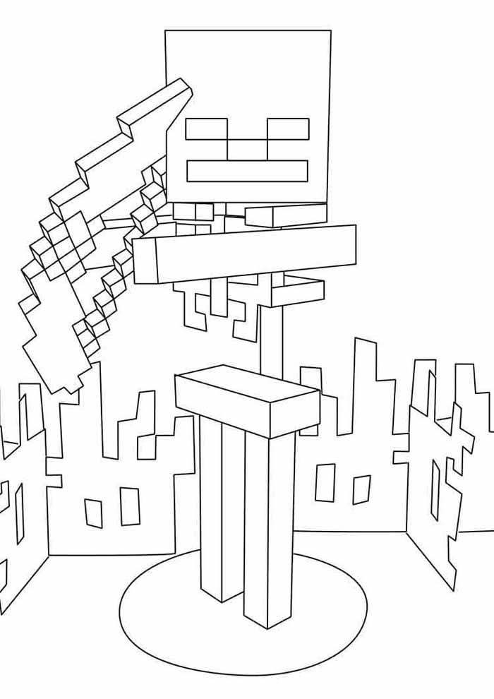 minecraft para colorir 17