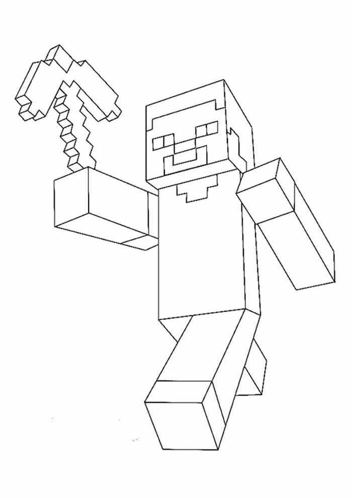 minecraft para colorir 18