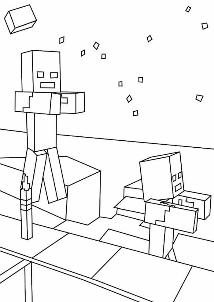 minecraft para colorir 19