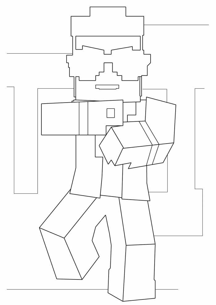 minecraft para colorir 2