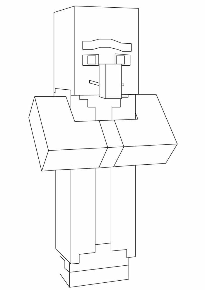 minecraft para colorir 23