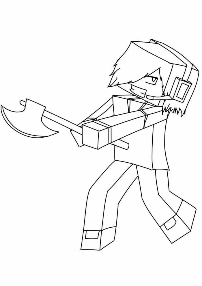 minecraft para colorir 26