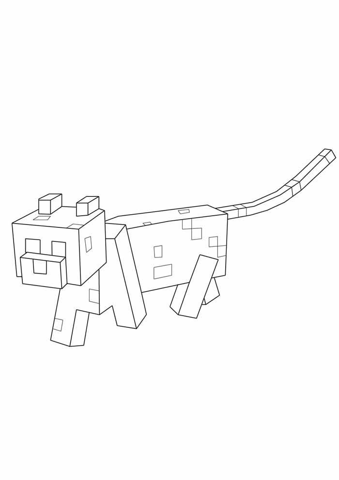 minecraft para colorir 27