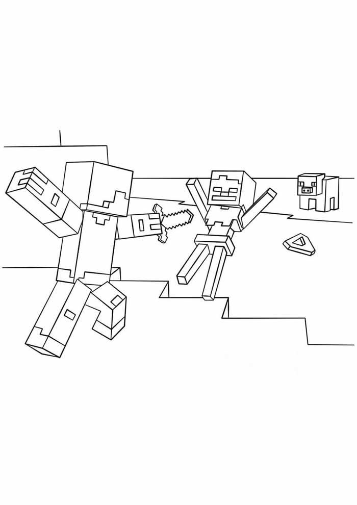 minecraft para colorir 28