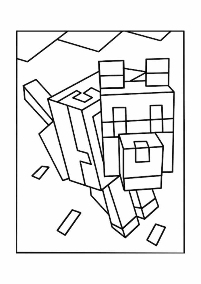 minecraft para colorir 31