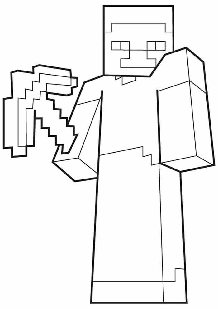 minecraft para colorir 33