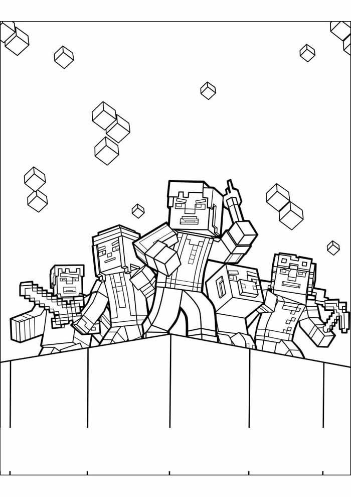minecraft para colorir 35