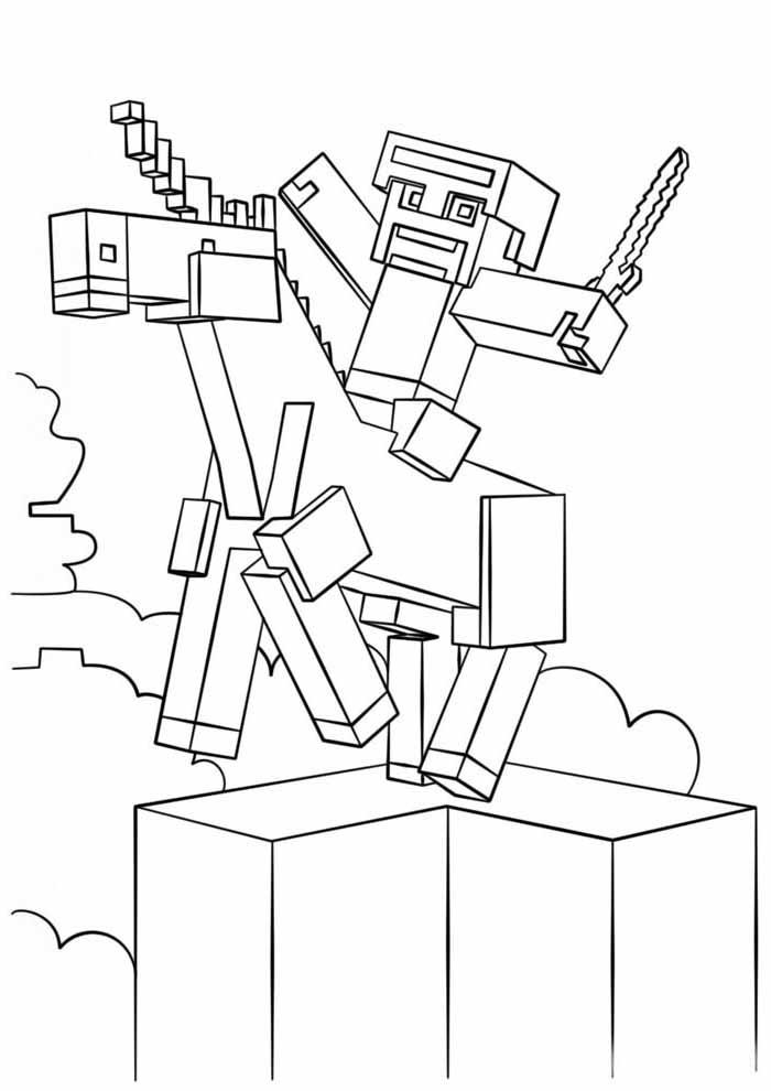 minecraft para colorir 36