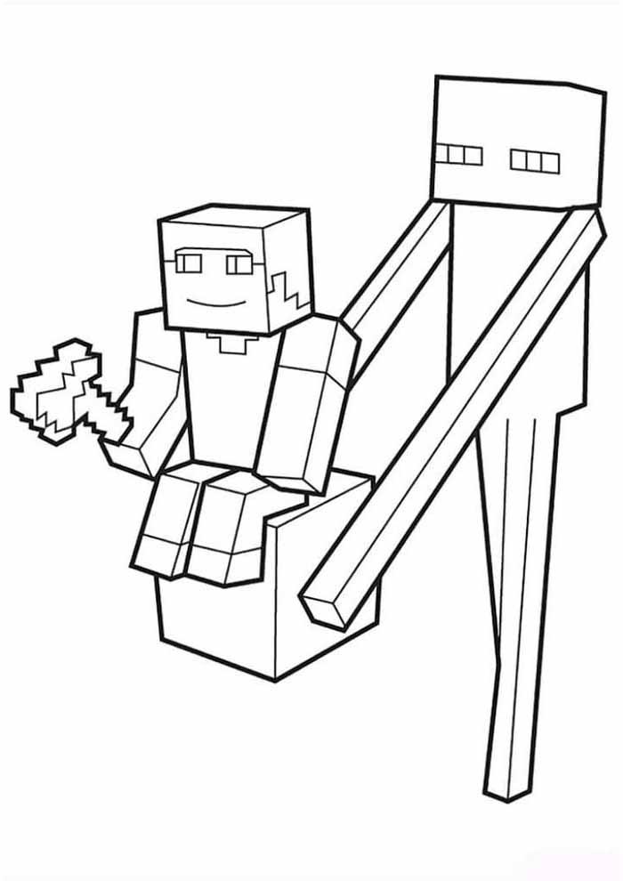 minecraft para colorir 39