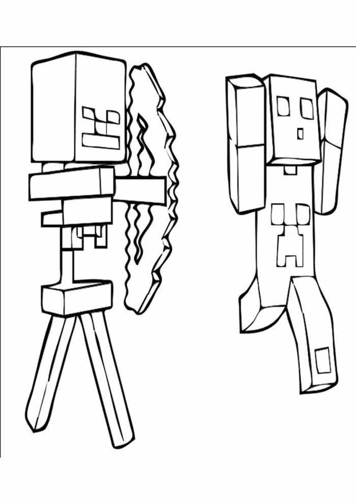 minecraft para colorir 40