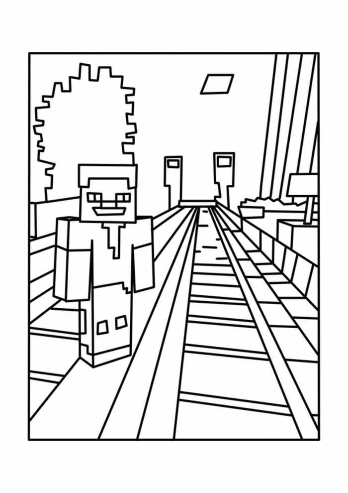minecraft para colorir 42