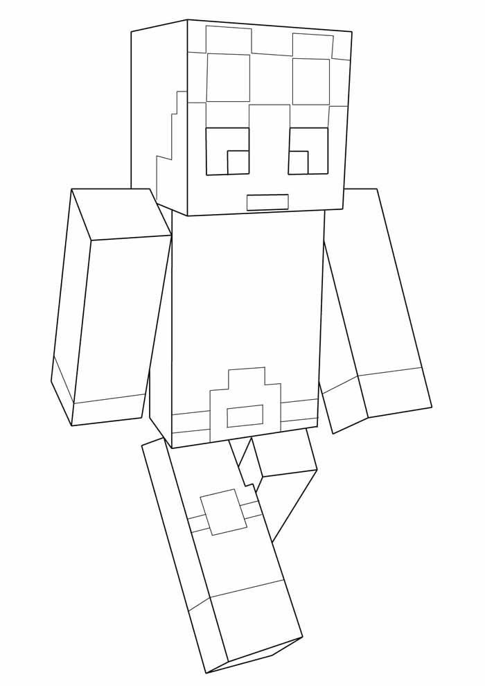 minecraft para colorir 43