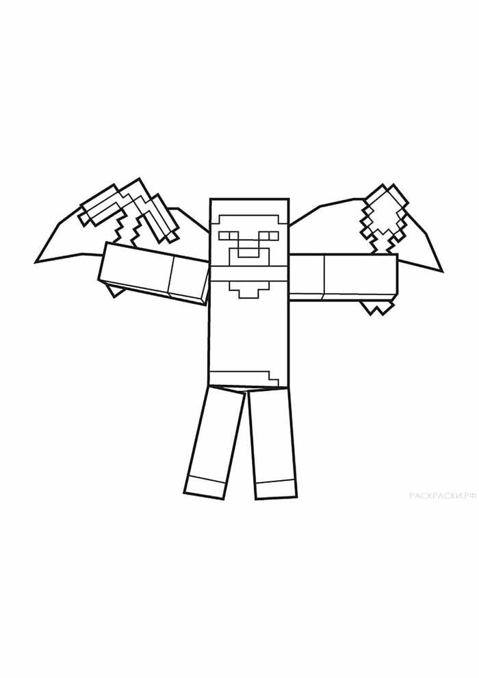 minecraft para colorir 47