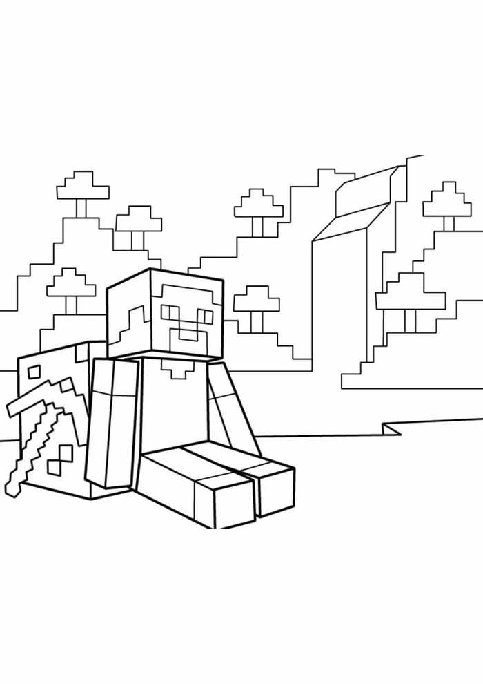 minecraft para colorir 49