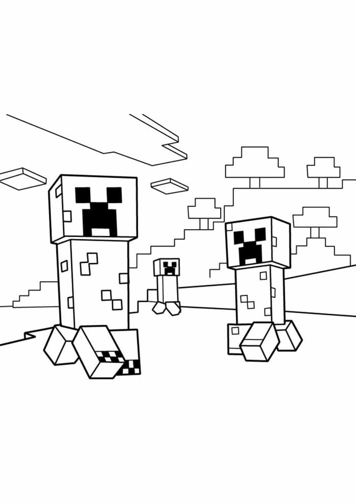 minecraft para colorir 50