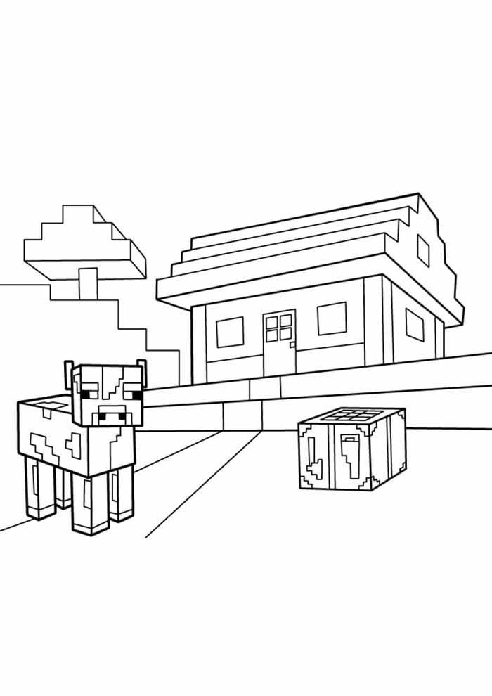 minecraft para colorir 51